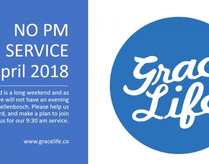 Stellenbosch: no evening service 29 April 2018